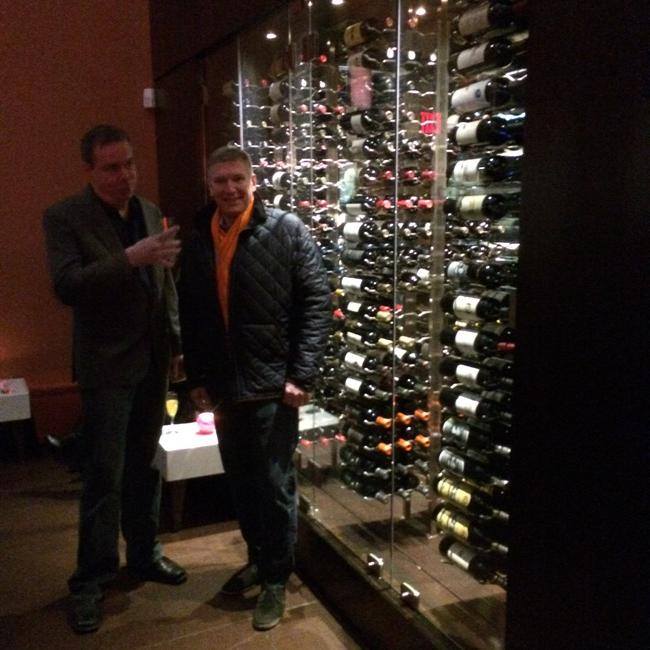 Joe and mike admiring the new wine cabinet at Char In Redbank Nj. This should be yours! #wine http://t.co/UL2se2cdOl