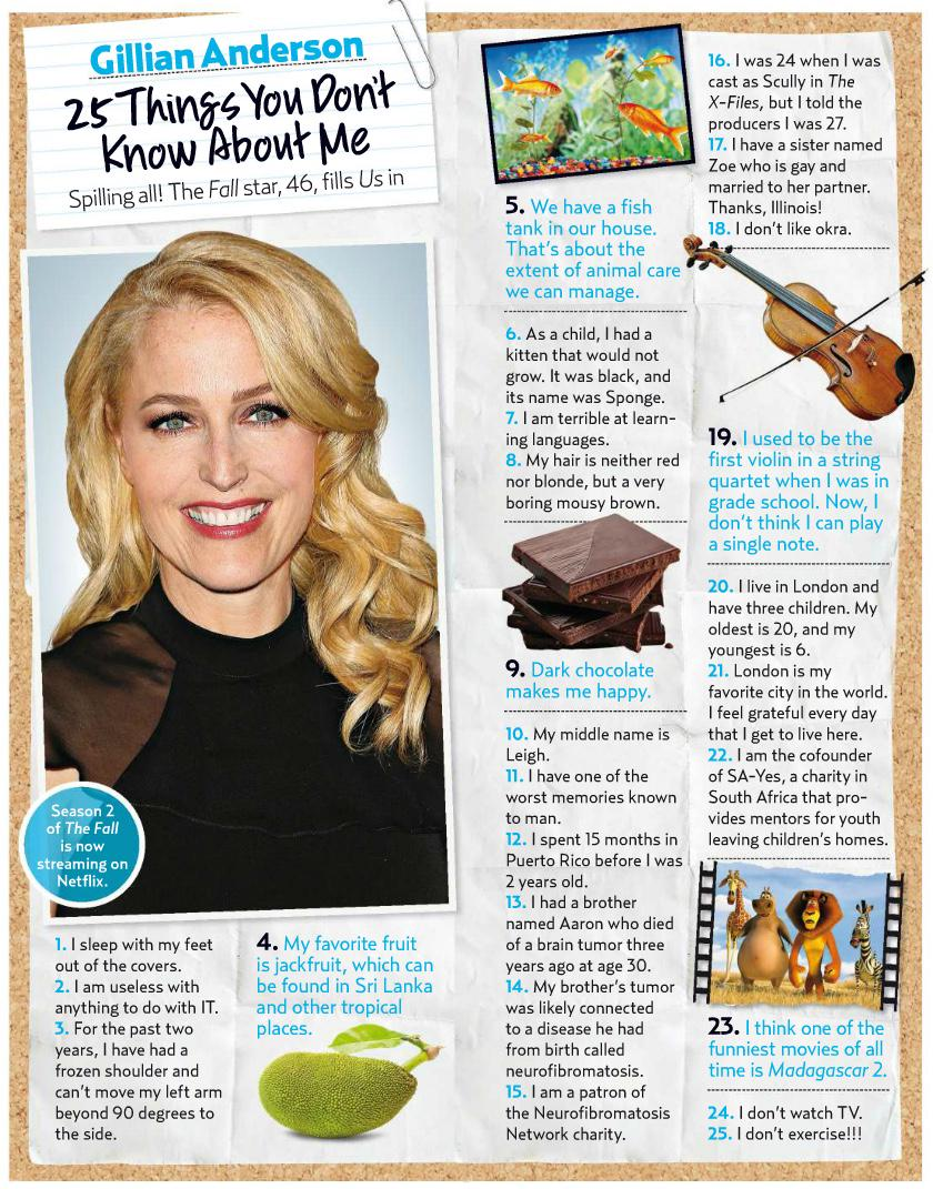 "Watch what you love. on Twitter: ""Gillian Anderson - 25 Things You Don't Know About me (via Us Weekly): http://t.co/dkXaMgZBdo"""