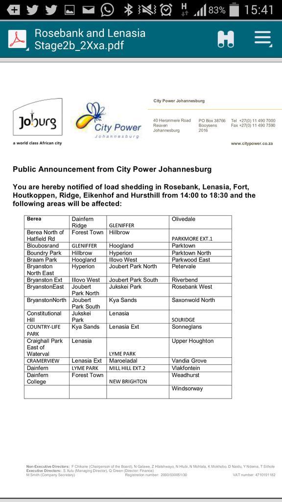 City of Joburg on Twitter: