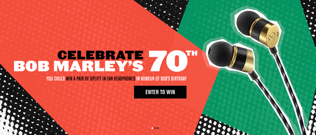 Celebrate Bob Marley! We're giving away 11 pairs of Uplift Headphones, enter here:  http://t.co/XZj7YykWOQ #Marley70 http://t.co/EpLBkv9hnu