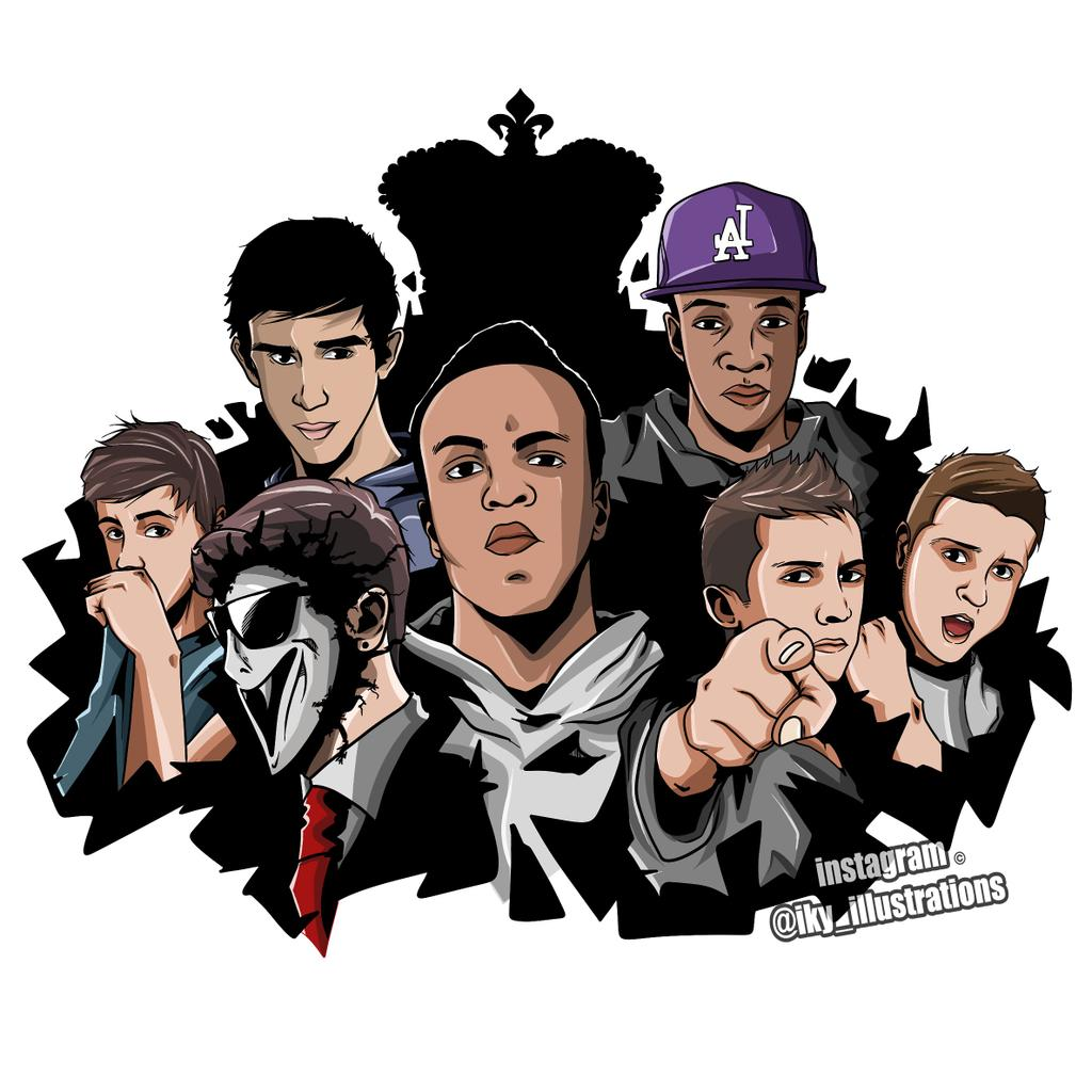 """¡ky On Twitter: """"my New Drawing Of The Sidemen"""