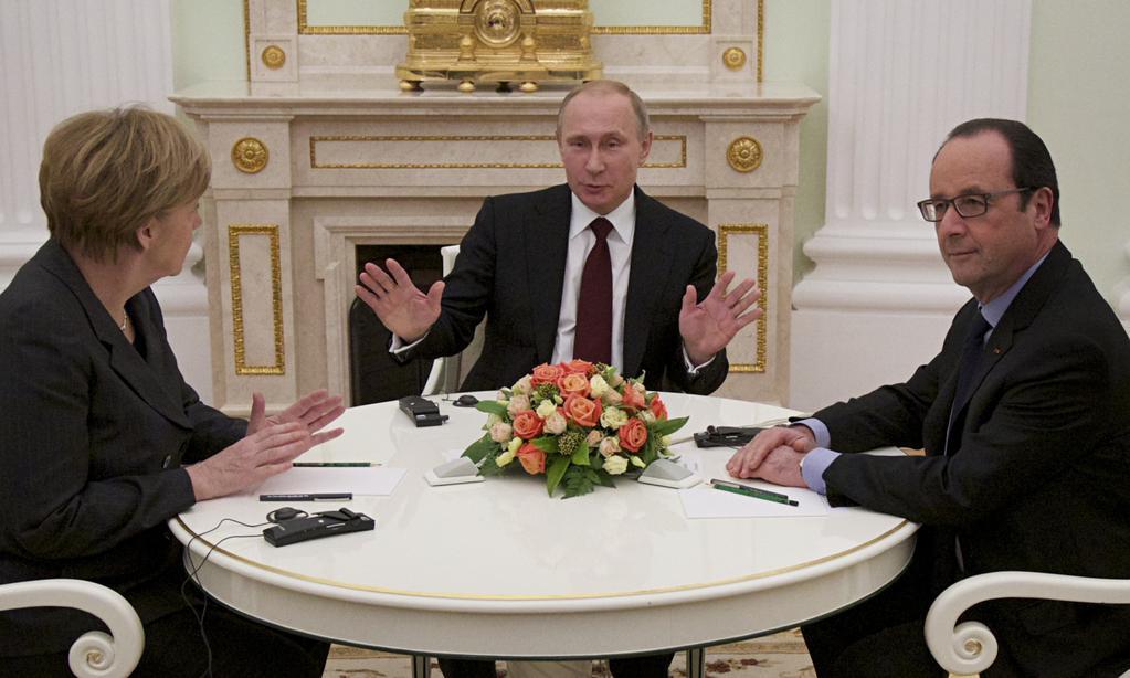 Меркель и Олланд уже в Кремле - переговоры начались и продолжались 3 часа