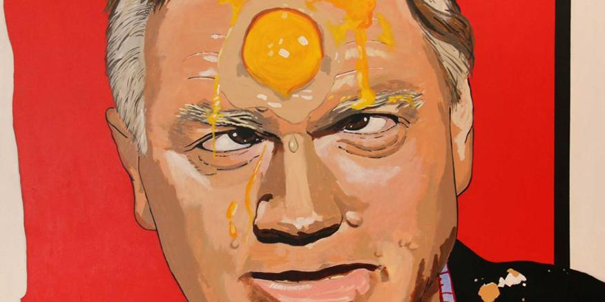 Image result for Andrew Bolt and egg on his face