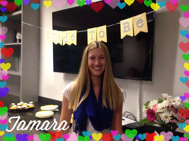Celebrating our bride to be @TamaraSewell with an afternoon celebration. #BrideToBe #TeamTerri http://t.co/CKTT2qUav0