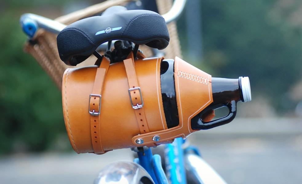 Yes, we've hit peak hipster. RT @mashnik: Leather bike growler #beer carrier from Meriwether Montana http://t.co/WpBXpFdGk8