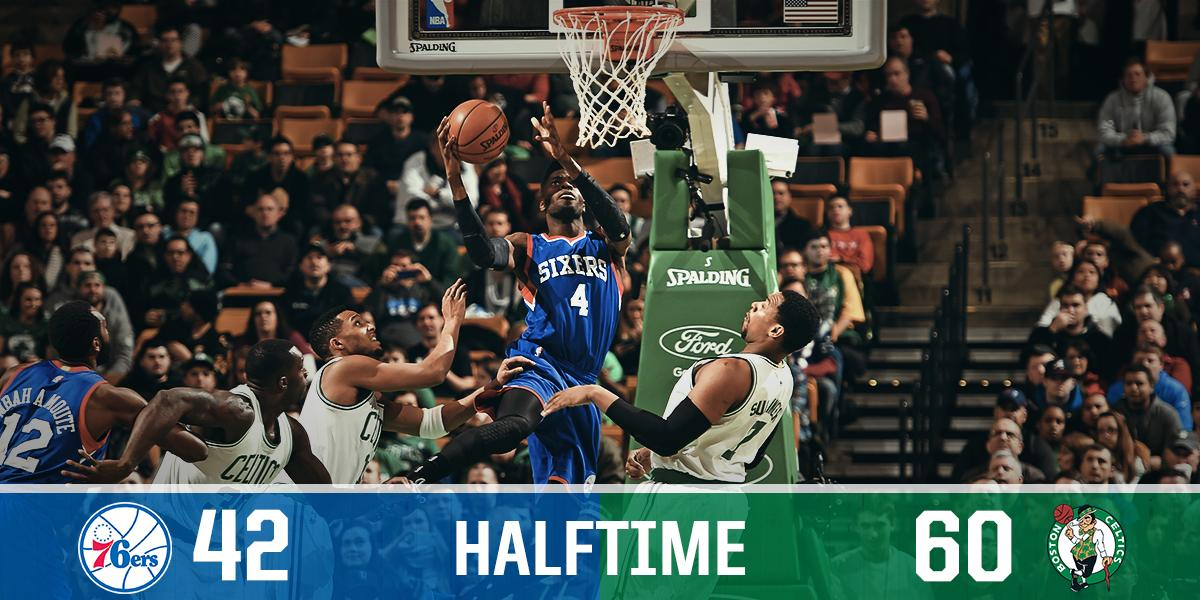 24 minutes of basketball to go. @mbahamoute leads us with 11 points on 4-6 shooting. http://t.co/oarfTxf1Rl