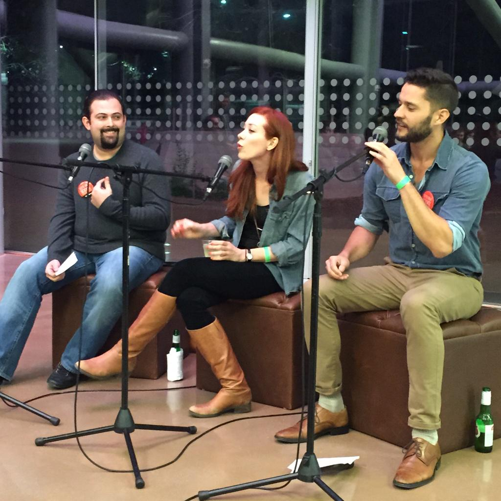 The #NerdBrigade LA is Science Salon-ing it up at the @NHMLA #FirstFridays! It's @jgold85 @alieward & @phil_torres! http://t.co/rZUO1RUKKP
