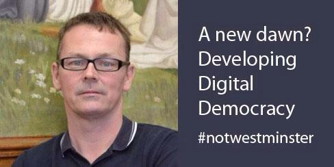 Our first lightning talk is from Dr Andy Mycock. #notwestminster http://t.co/VJ7lR5ghUc