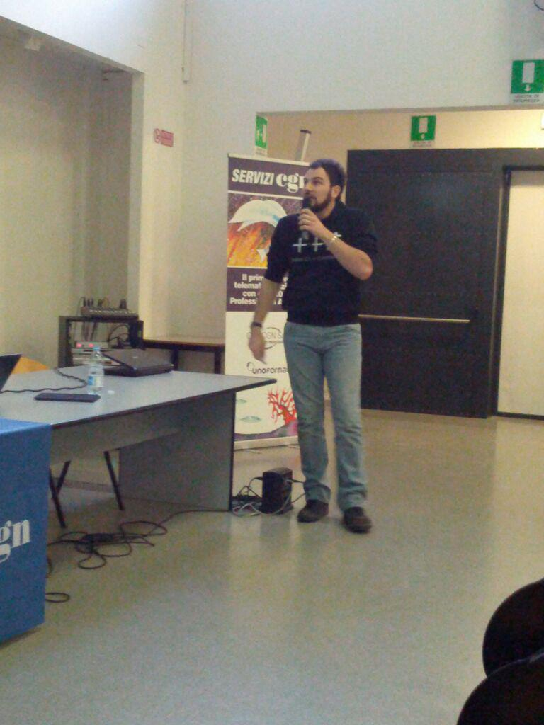 Marco Arena keynote at Italian C++ meet up #meetupcpp #pordenone http://t.co/hngH7v65IB