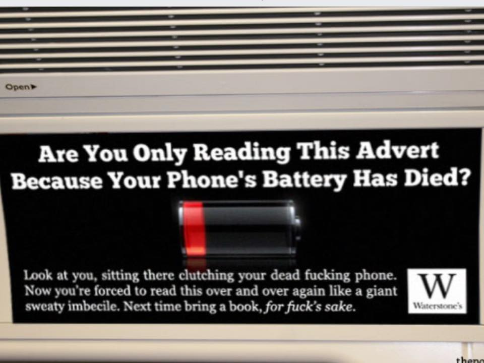 I do like Waterstones' new advertising campaign. http://t.co/QqueRPNeQK