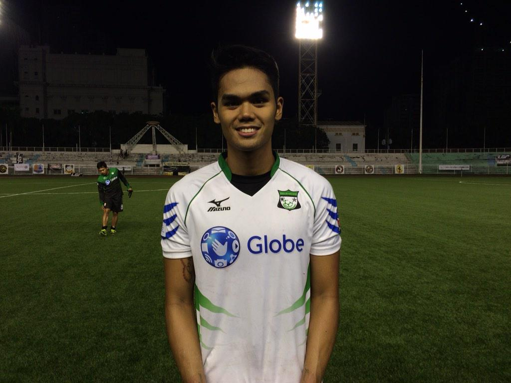 MAN OF THE MATCH From green archers united FC PAOLO PASCUAL with 9 solid saves!! FT score 1-1 #GLOBALvGAU #UFLph2015 http://t.co/roWMTrg4VY