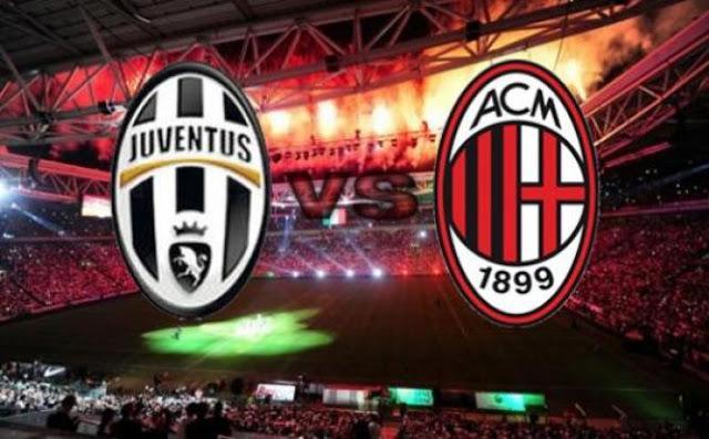 Risultato JUVENTUS MILAN diretta live video gol Serie A calcio in tempo reale