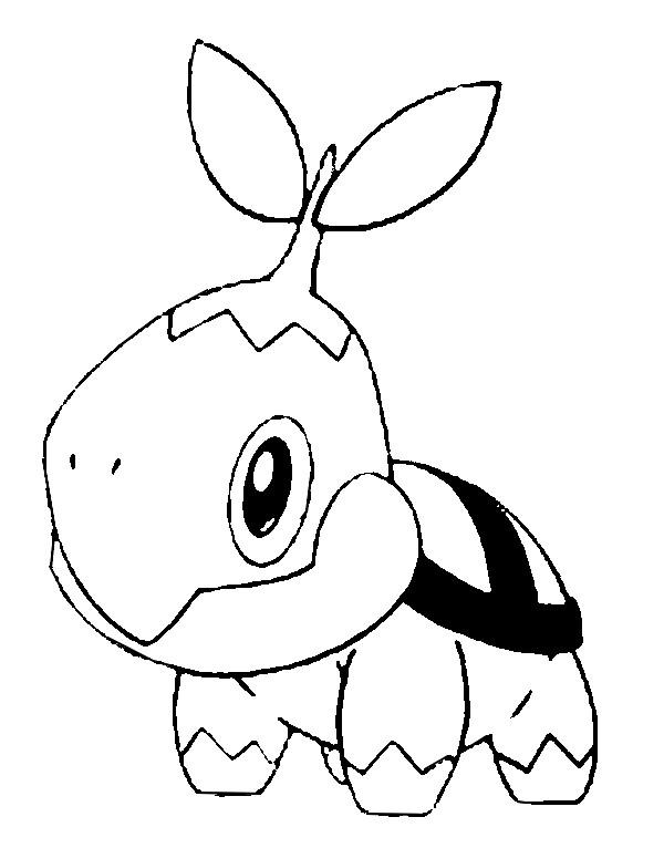pokemon coloring pages turtwig - photo#6