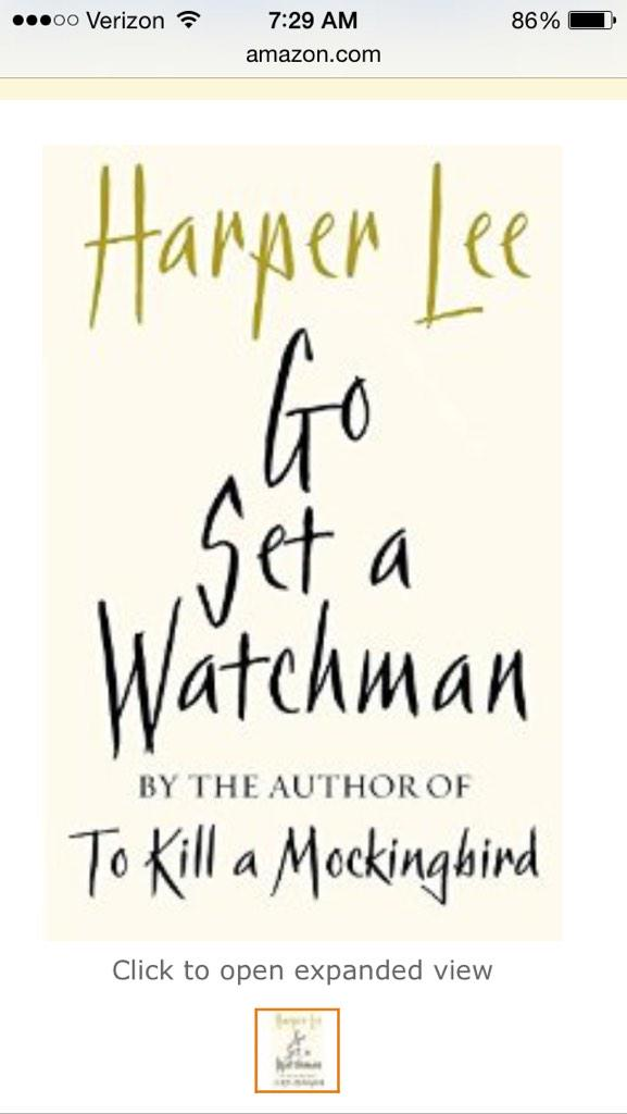 A jacket for Harper Lee's Go Set a Watchman. http://t.co/0hfwTHY9ld