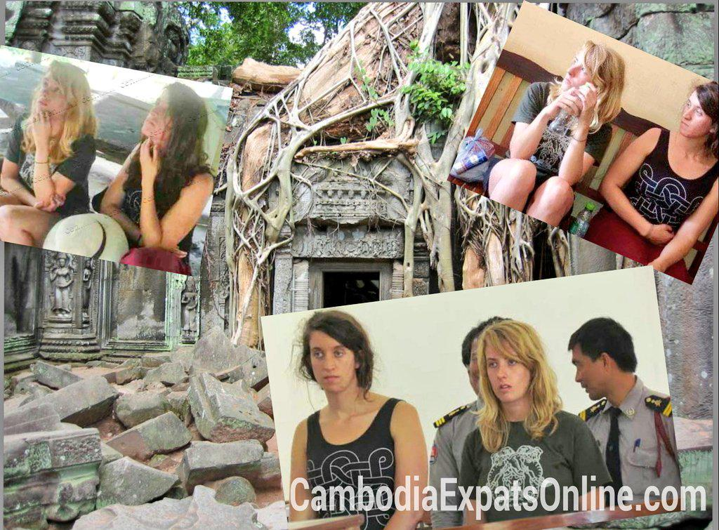 American sisters deported for nude photos at Angkor Wat