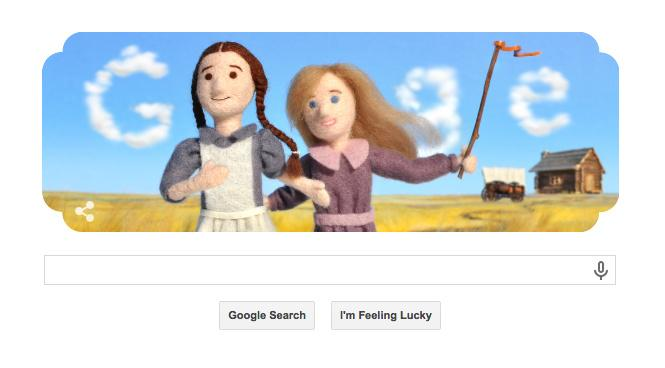 EAT YOUR HEART OUT NELLIE OLESON I'VE GOT A GOOGLE DOODLE http://t.co/A30UV1MB2T