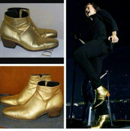 Gold Boots Harry Styles Harry Glitter Gold Boots