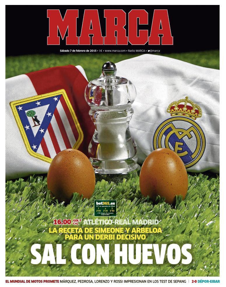 Atlético 2 · Real 0. Al descanso todavía no sé quién ha puesto la sal. Pero está claro quien ha puesto los huevos.... http://t.co/IN3eG75Br2