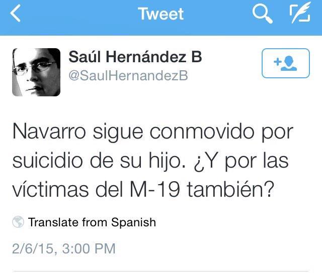 Me quedo sin adjetivos para este trino de un señor que tiene una columna en @ELTIEMPO @SaulHernandezB #quebajeza http://t.co/gNYBjCYGn3