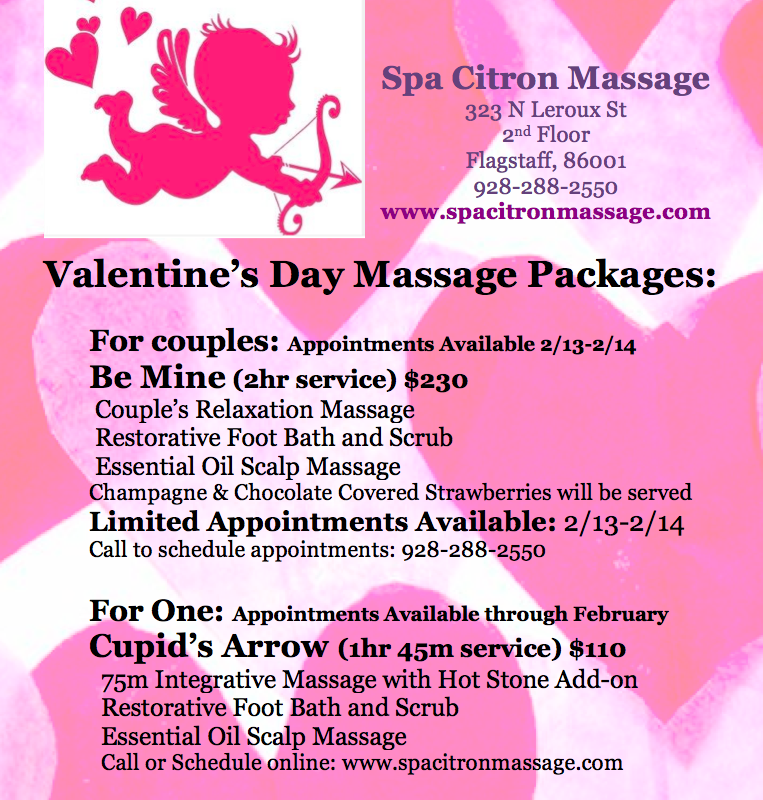 spa citron massage on twitter hey flagstaff treat yourself your honeybunny to one of our sweet valentines day massage packages - Valentines Day Massage