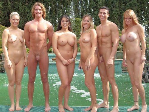 many naked women together
