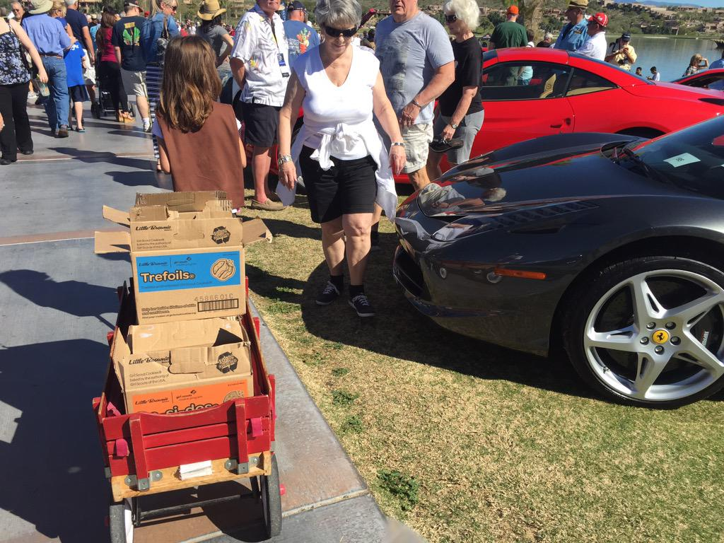 Chris Williams On Twitter My Industrious Girl Scout Working The - Fountain hills car show