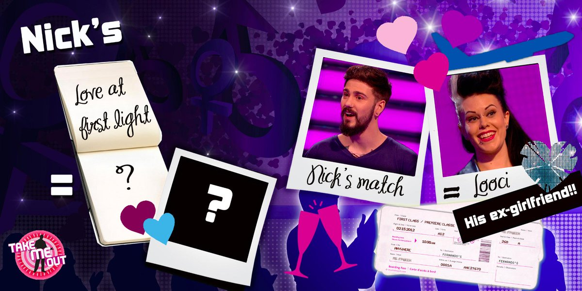 This is a #TakeMeOut FIRST - a couple reunited! Nick picked his ex-girlfriend Looci