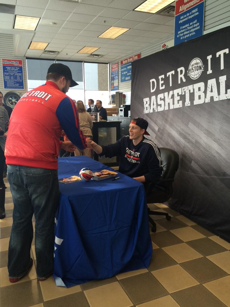 "Detroit Pistons on Twitter: ""Kyle's @belletire in Auburn Hills now ..."