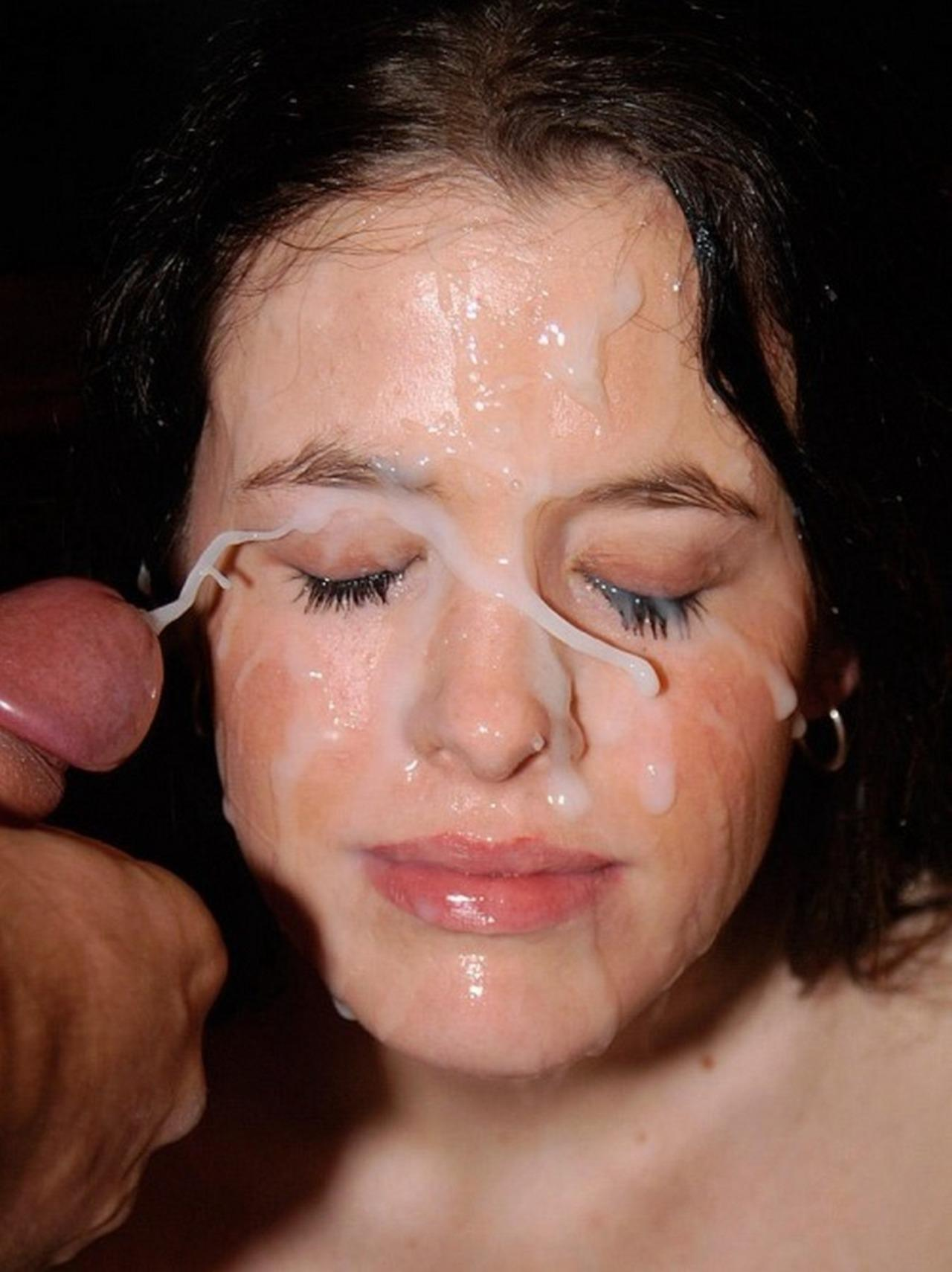 Damaris women with cum on there face naked