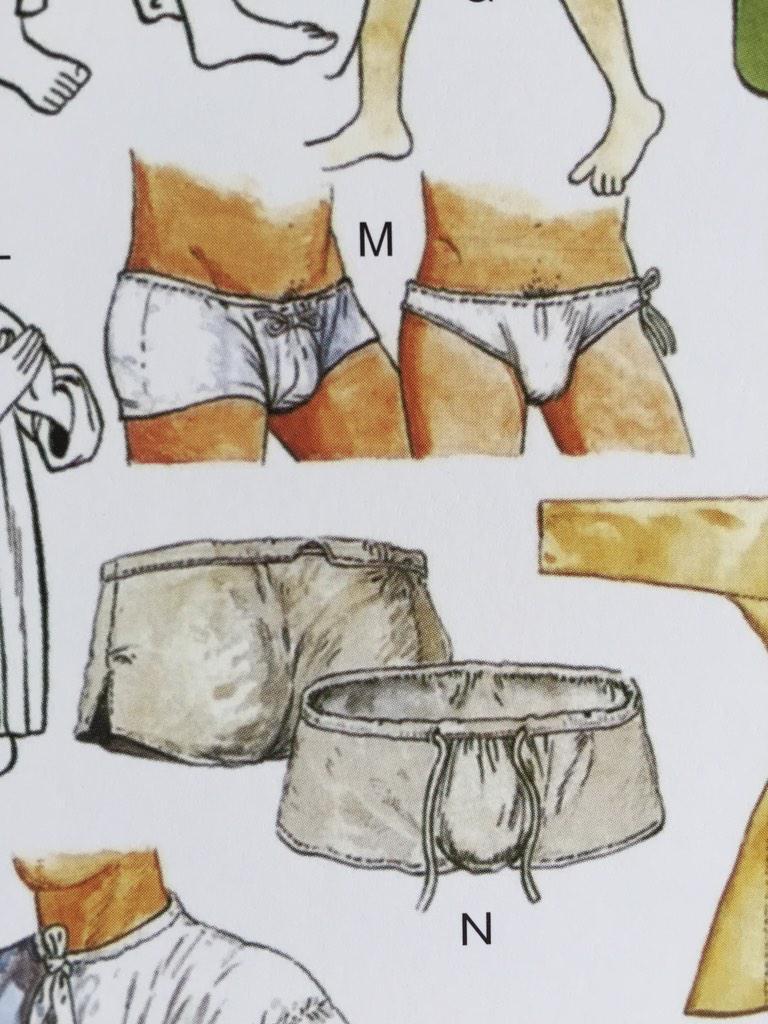 参考までに中世ヨーロッパの男性の下着 http://t.co/Aos54Xs6PY