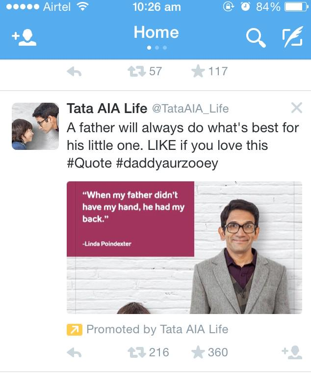 Dear @TataAIA_Life. This is Twitter and it does NOT have a LIKE button. At least change your ad copies :P http://t.co/vVRsrmArBv
