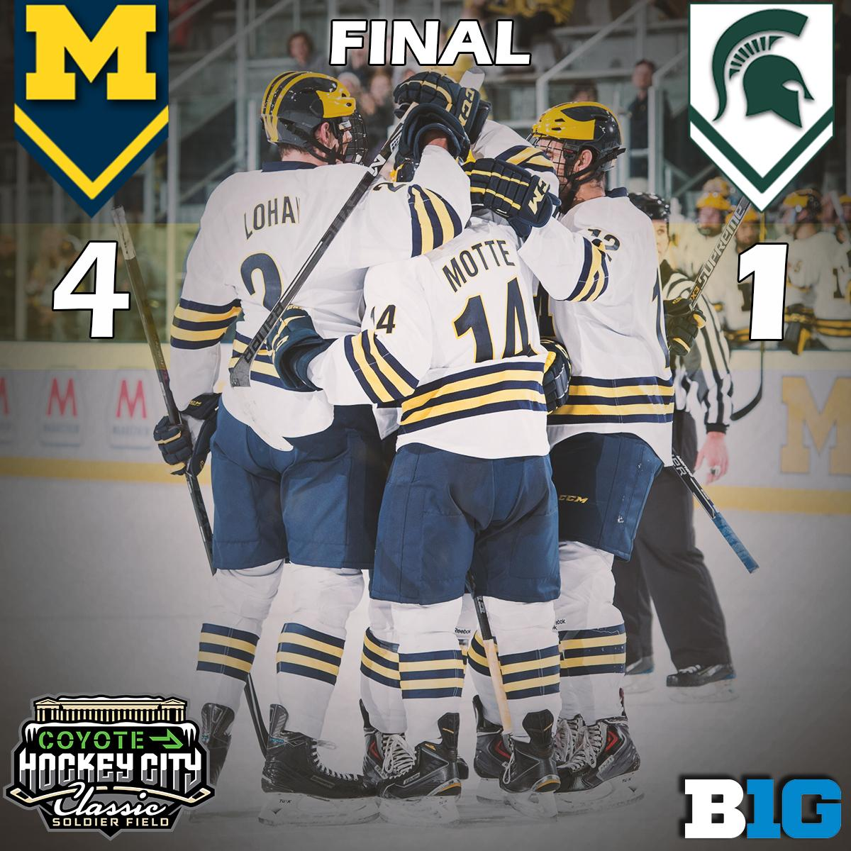 That's all she wrote folks, as Michigan beats Michigan State under the stars in Chicago #GoBlue http://t.co/dZG7vceAYL
