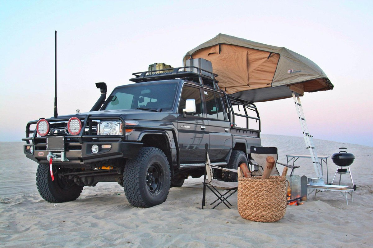 Icon Autos on Twitter  Land cruiser #LC79 with Icon bed rack with roof top tent in action. All #LandCruiser accessories available at Icon ... & Icon Autos on Twitter: