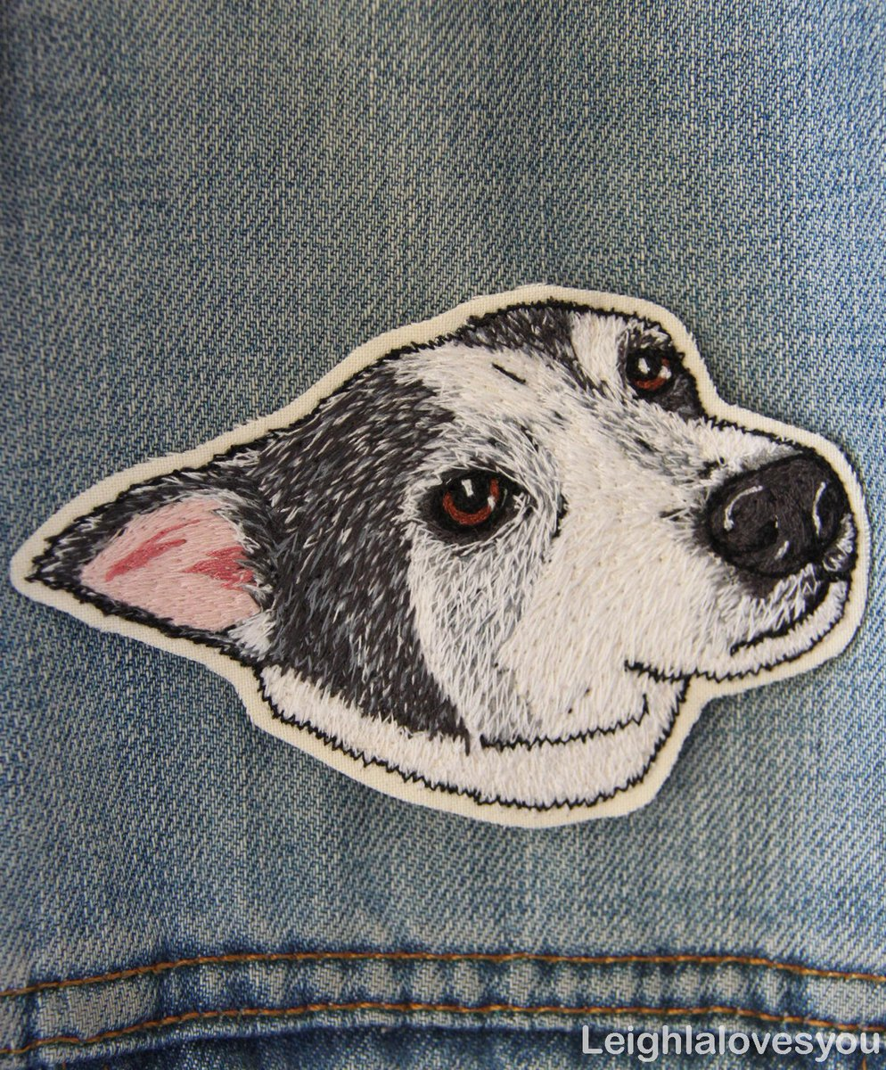 Custom Pet Free Hand Machine Embroidered Patch/Brooch! Available here:http://t.co/iKElltLPnA  @HandmadeHour @HMNation http://t.co/xk2kcoVtL1