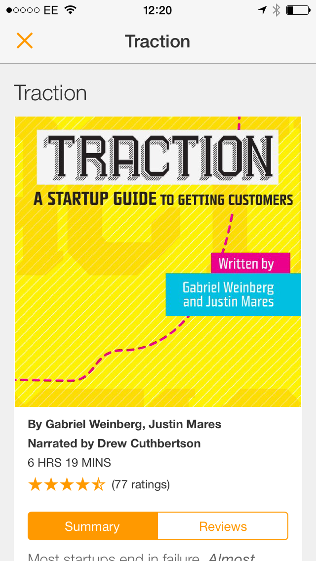 Just finished reading @tractionbook by @yegg & @jwmares one of the best #marketing books out there 5/5 #abookaweek http://t.co/0lj9Y2KKLk