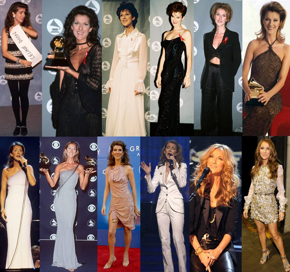 I love this photo montage of 12 years of Celine Dion looking like an absolute dog's dinner at the Grammies. http://t.co/uzMGvOdf7h