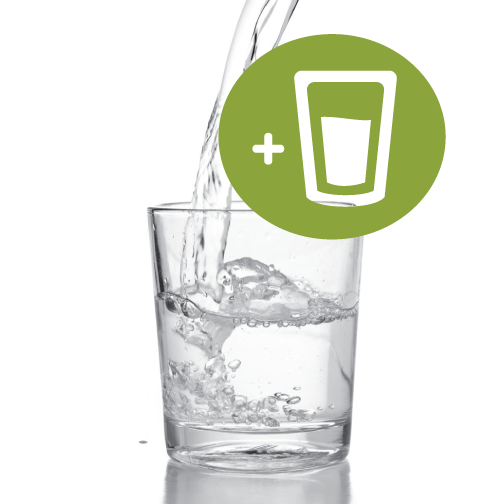 Add 2.5oz VITAMIN Strength+Replenish to 20oz of water and you've got vitamin water with only 3g of sugar (vs 31g!)