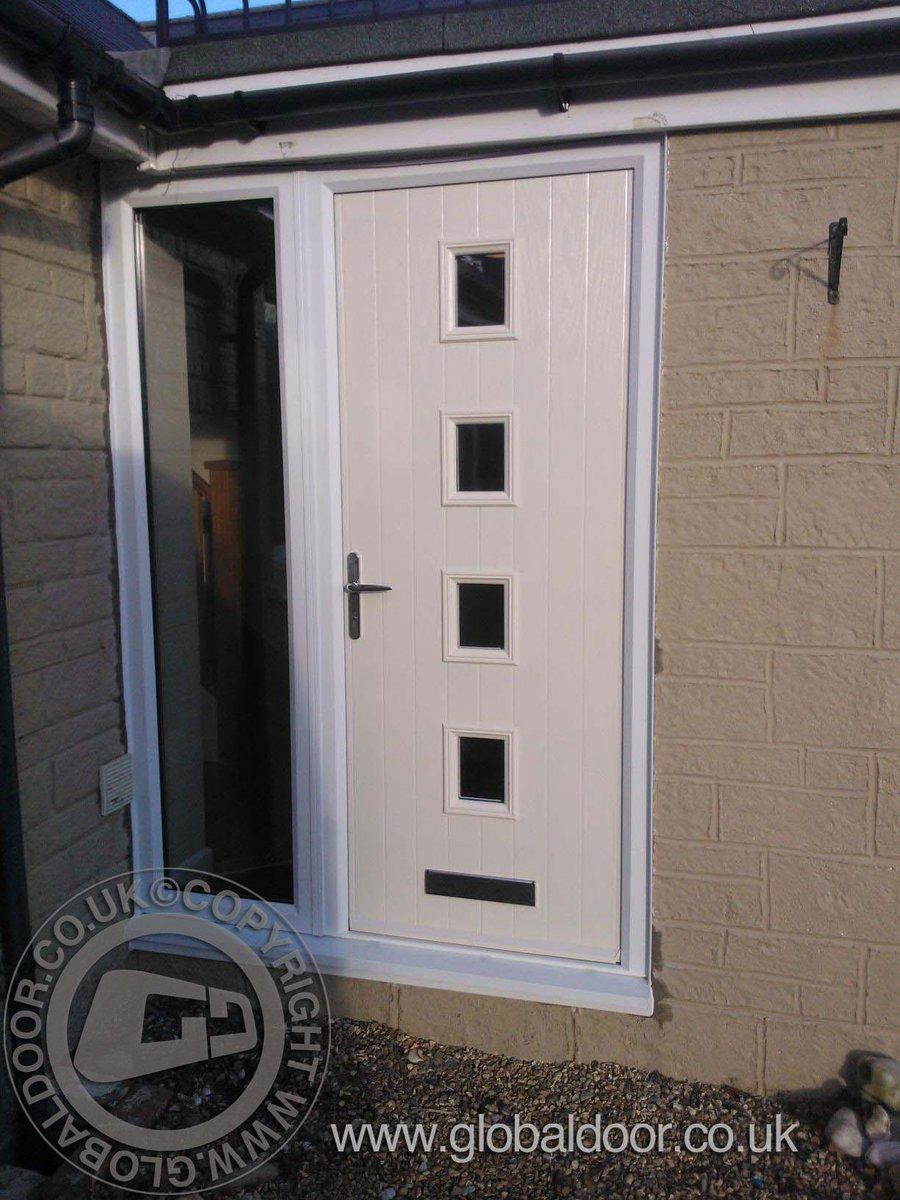 Global Door on Twitter  a Cream 4 square global composite door with glass side panel @doorstopdoors composite door #frontdoor very defining ... & Global Door on Twitter: