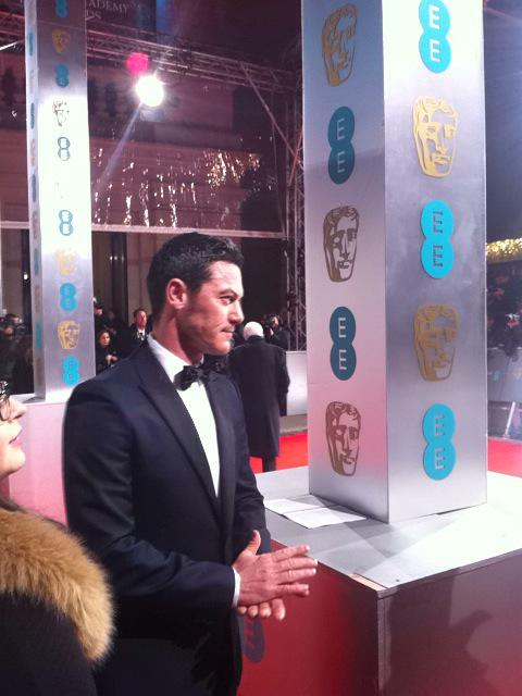 It's Luke Evans - will we live? #BAFTAs http://t.co/Q1oV5cvc6f