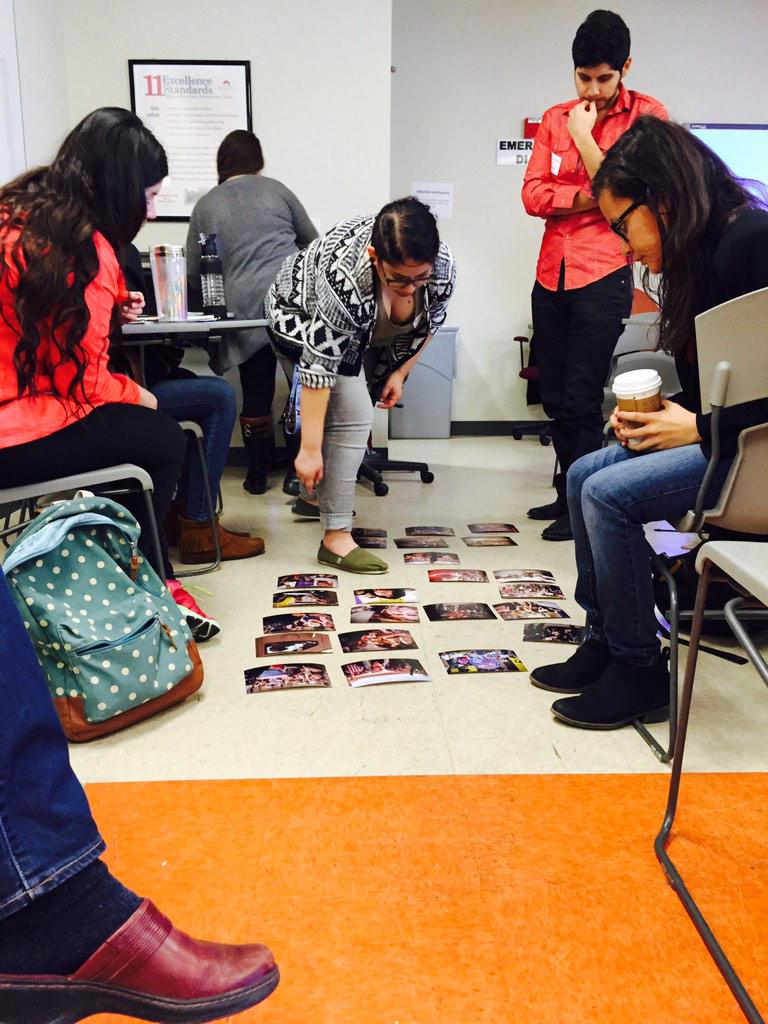 #Ferguson relived. Students are analyzing visual aspects of the riots that took place in ABQ last year. #lobocamp http://t.co/sEzpS18fEU