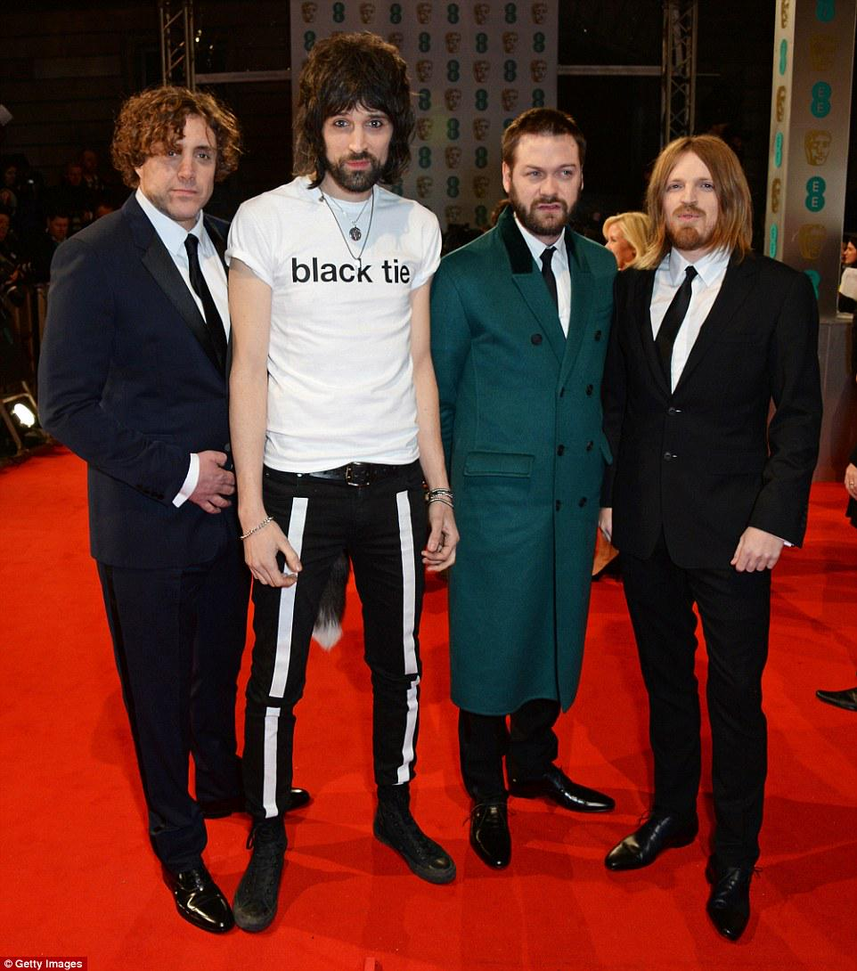 oh god Kasabian, you are a fright. #baftas Nice tail bud http://t.co/rFpH90gcWq
