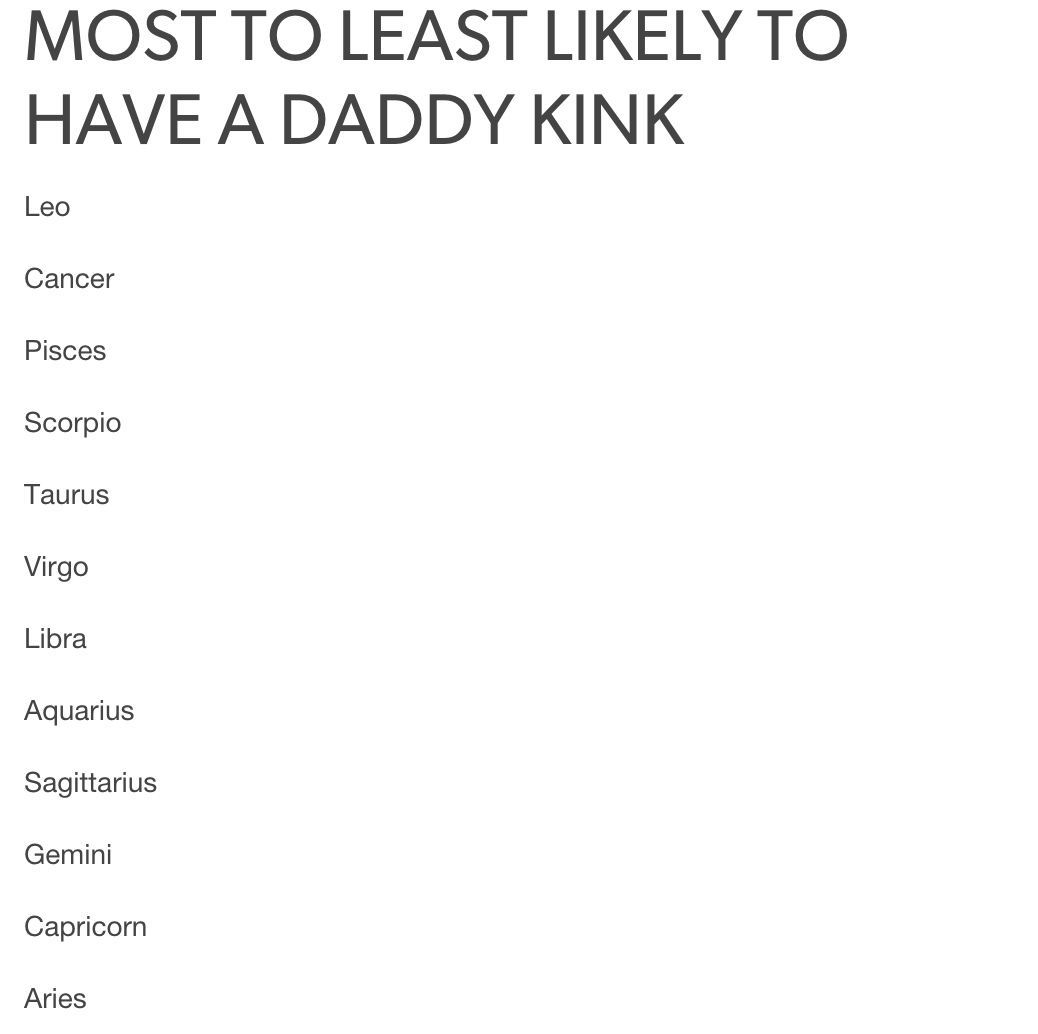 Most anal signs of the zodiac