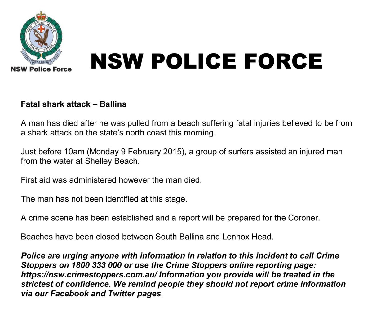 NSW Police Force on Twitter: