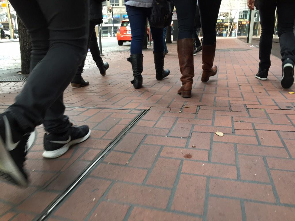 Sunday in San Francisco. Heading out into the wild with the @IxDASDC #wearablecity finalists. #ixd15 http://t.co/f95JrmrQYo