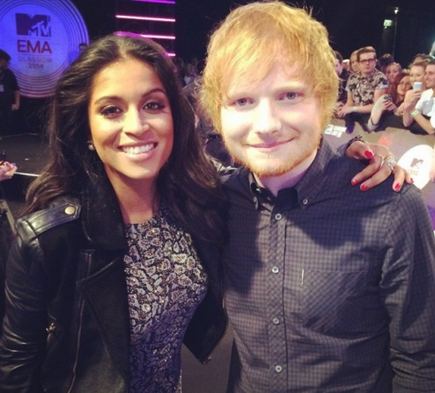 Lilly Singh and Ed Sheeran, Source: Twitter