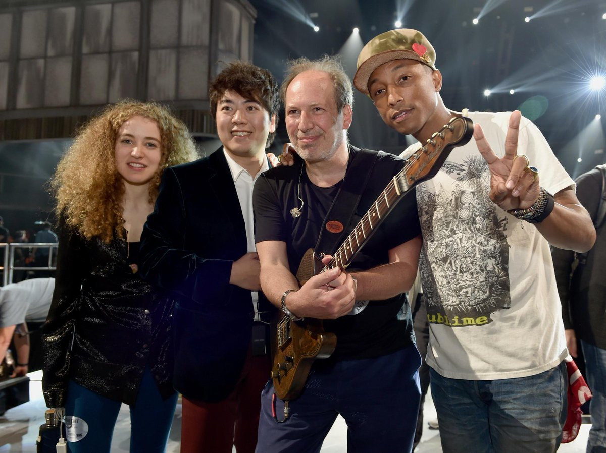 Cool pic from soundcheck :-) @Pharrell @RealHansZimmer @lang_lang @talwilkenfeld @TheGRAMMYs #TheGrammys http://t.co/p4onGi5PXP