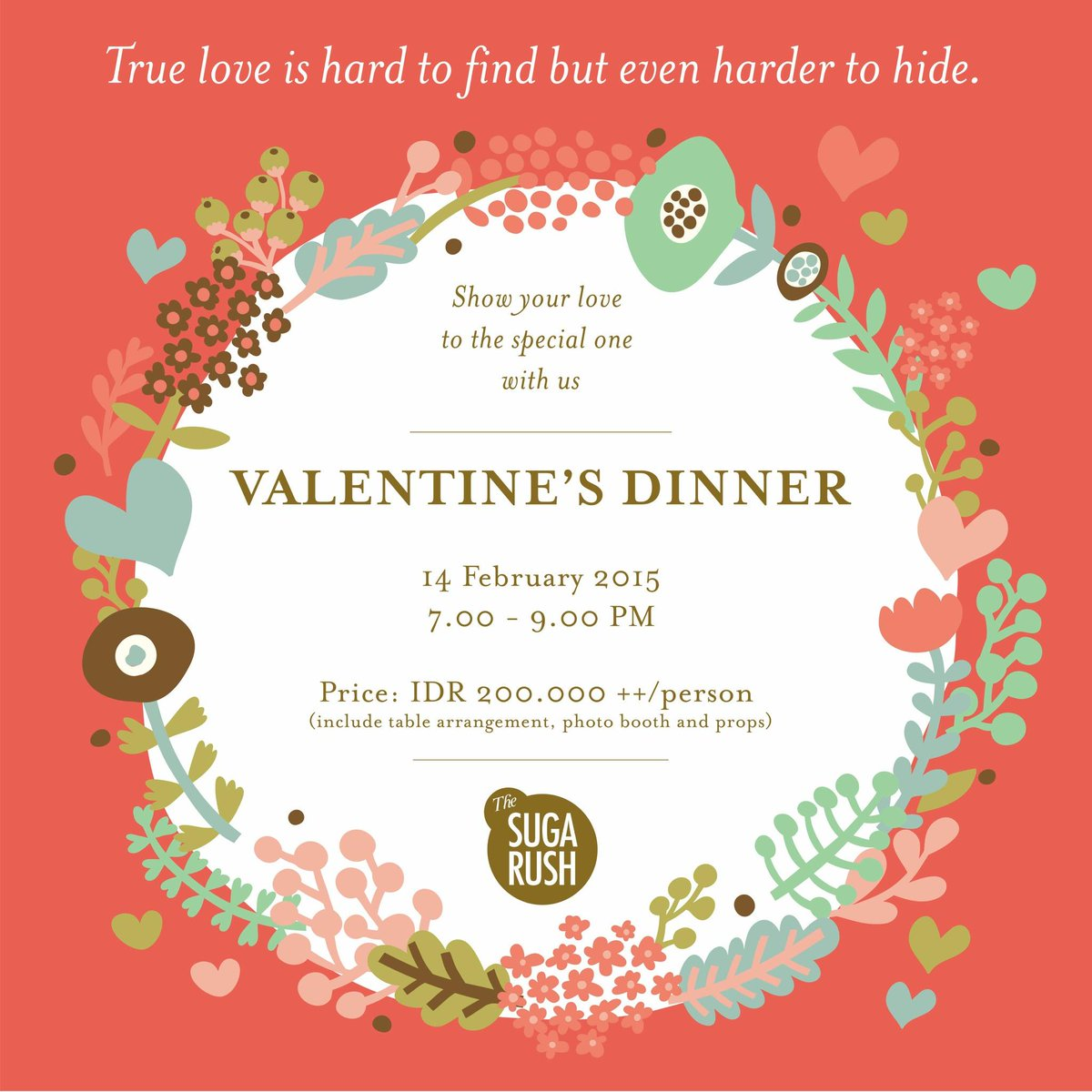 Makan malam spesial, private table, dll? #ValentinePackage by @Sugarush_bdg. 14 Feb, 7-9PM. RSVP 022-4236618 http://t.co/nWNTWUK98U