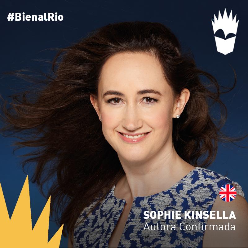 Considerada uma das + importantes escritoras do gênero chick lit no mundo, @kinsellasophie vem para #BienalRio!! http://t.co/nCqq1WZ0Wc