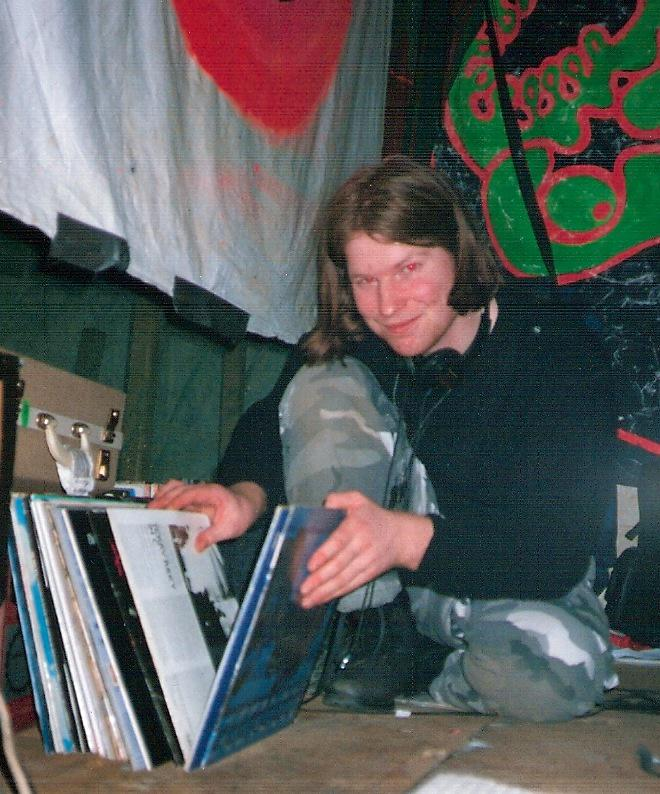 Congrats to @AphexTwin on Grammy award, here's a pic I took of him in 1993 at the Telepathic Fish ambient party http://t.co/FjNPPb0VGZ