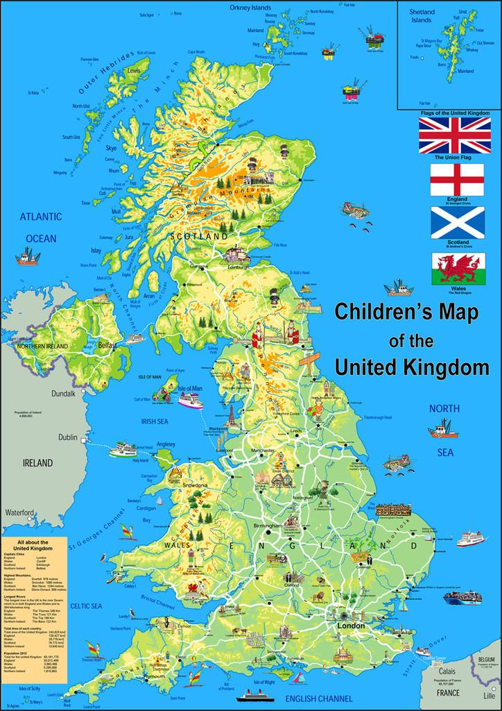 I love maps on twitter this children 39 s map of the uk is - Mappa dell inghilterra per i bambini ...